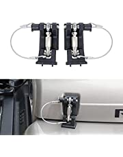 BESTAOO Hood Latches Pins with Lock Anti-Theft Hood Catch Lock Kit for Jeep Wrangler TJ 1997-2007, 1 Pair