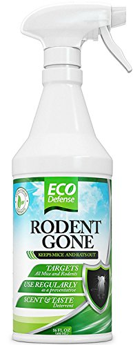 Eco Defense Mice Repellent - Humane Mouse Trap Substitute - 16 oz Organic Spray - Guaranteed Effective - Works For All Types of Mice & Rats