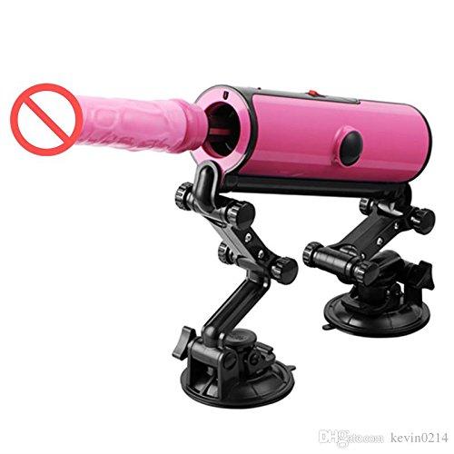 Hetam Adjustable Sex Machine Remote Control 3 Vibrations 3 Thrusting Automatic Heat Dildo Love Gun Electric Vibrator for Women E5-1-17-X3 by Hetam