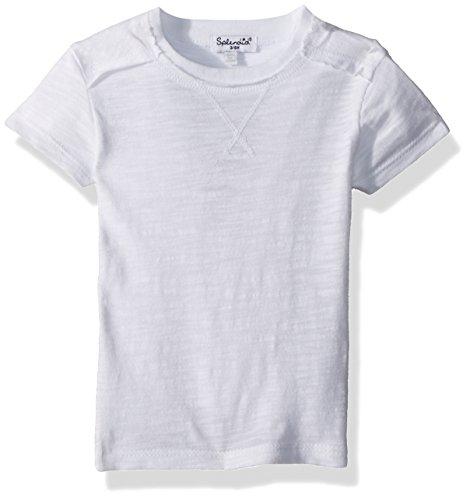 Spring Splendid - Splendid Baby Boys Basic Short Sleeve tee Shirt, White, 3/6 mo