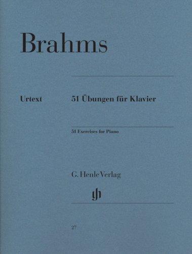 51 Übungen für Klavier Musiknoten – 17. März 2009 Brahms Johannes Henle B001W6UVOQ