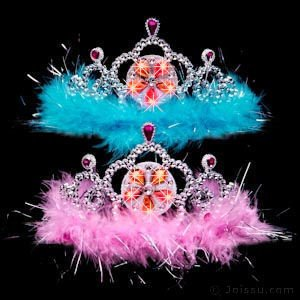 - Flashing Tiaras With Feathers (pack of 12)