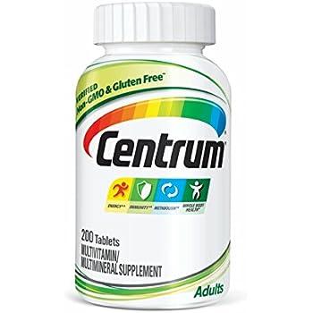 Centrum Adult (200 Count) Multivitamin / Multimineral Supplement Tablet, Vitamin D3