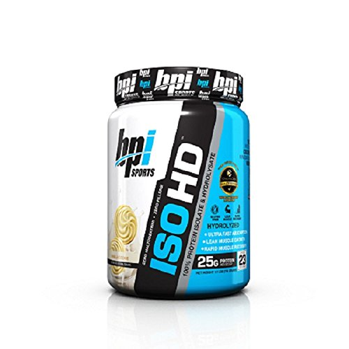 BPI Sports ISO HD Whey Protein Isolate and Hydrolysate, Vanilla Cookie, 1.7 Pound (Creatine Pump Fuel)