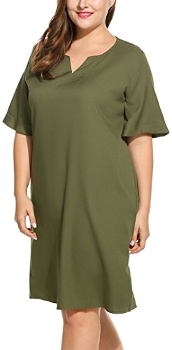 [SimpleFun Women's Plus Size Evening Dresses Green 4XL] (Plus Size Evening Wear)