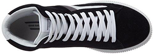 Diesel Men's Sneaker Mid Shoes Urbany E-KURW Black / White cheap sale the cheapest udd64h34