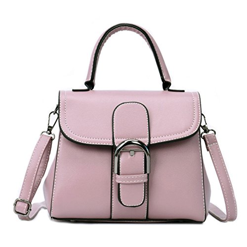 Simple Cuadrado Portátil Bolsos Hombro Pu Pequeño De De Trend Wild Pink Moda Bolso De Ms Crossbody Paquete FqAxwOZO