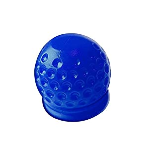Abdeckung Anhängerkupplung Modell Golfball Abdeckkappe Soft Softball (blau)
