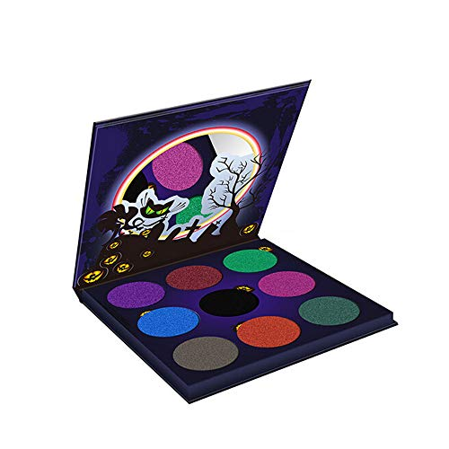 Exteren Halloween Pumpkin Head Eye Shadow Body Painted Plate Scarecrow Ghosts Party Makeup Eyeshadow Palette Pallets (Multicolor) -