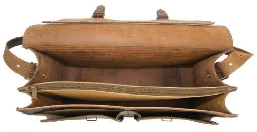 Freiherr von Maltzahn - Bolso al hombro de cuero para mujer marrón marrón talla única