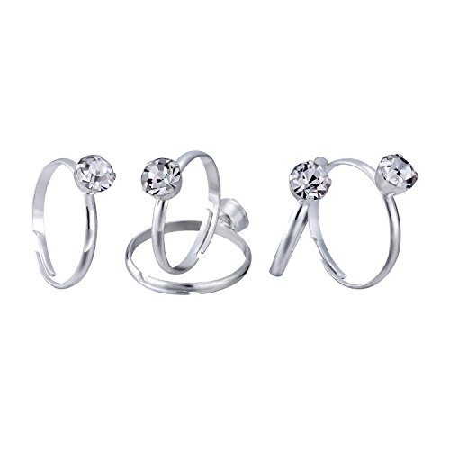 Mtlee Silver Diamond Rings for Wedding Table Scattering Decorations, Favor Accents, Party Supply, 16 (Wedding Favors Table Decorations)