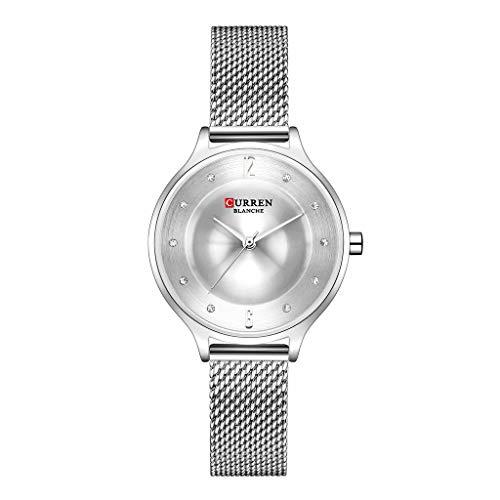 Saying Girls Wrist Watches Women'S Pocket Watches Small Dial Mesh With Waterproof Water Diamond Watches Super Thin Female Watch Bracelet Clasp Bracelets Perfect For Mother Wife Or Friend (D) (Dial Jewelry Clasp)