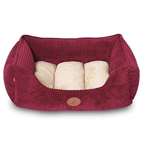 48×40×16cm Pet Nest Square Pet Bed Comfortable Nest Indoor Pet House For Dog and Cat Removable And Washable Nest Red S L (Size   48×40×16cm)