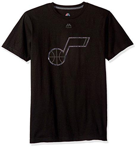 Nba Utah Jazz Mens Ferocious Domination Short Sleeve Crew Neck Tee  Large  Black