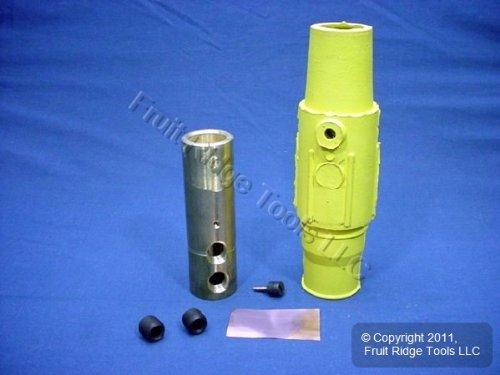 Leviton 17D24-Y Yellow 17 Series Female Double Set Screw Detachable Cam-Type Plug