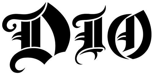 BLACK DIO BAND LOGO DECAL WINDOW NEW STICKER