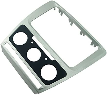 Auto//Manual a//c feeldo plateado radio de coche marco embellecedor marco de Refitting Panel adaptador para radio de coche 2DIN est/éreo instalar kit de montaje para Skoda Octavia 10/~ 13