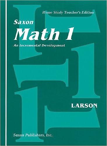 Amazon.com: Saxon Math 1 An Incremental Development: Home Study ...