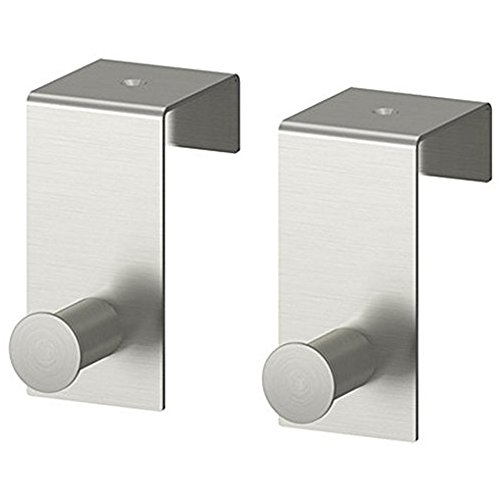 KES Stainless Steel Over-the-Door Hook 43mm Optional Screw Mount, 2 Pieces or 1 Pair