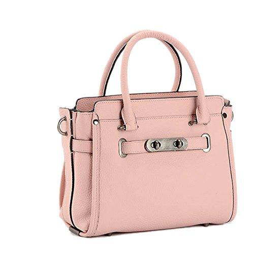 Mujer PU moda Nuevo Señoras De Gama Alta Robusto Bolso De Hombro único Pink