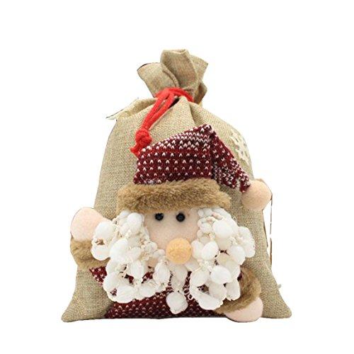 christmas stockings Clearance ♥ Plush Christmas Tree Hanging Gift Candy Handbag Decoration (A)