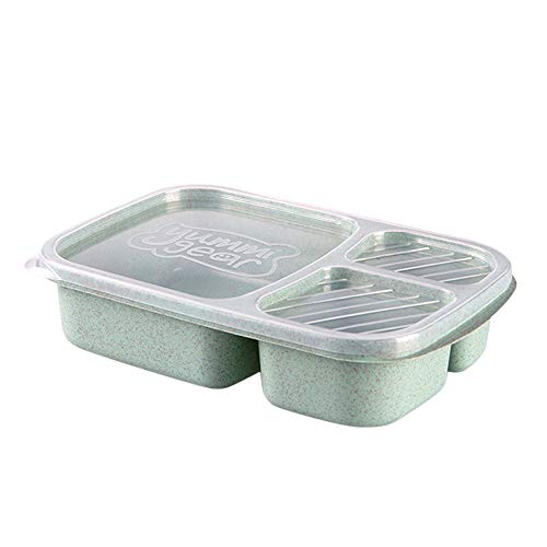- Irene Lunch Box Container Microwave Picnic Food Fruit Storage Box For Kids Adult (Green)