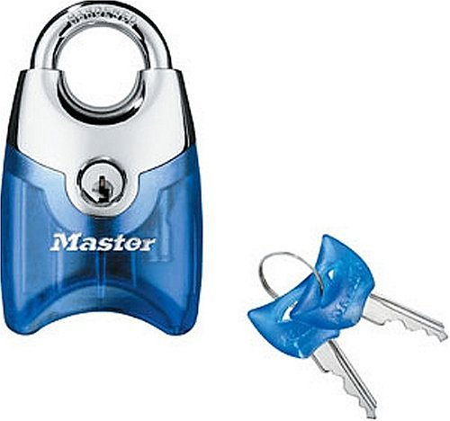 Master Lock 192D Translucent Front Access Padlock, Assorted Colors with Chrome (Master Lock With Key compare prices)