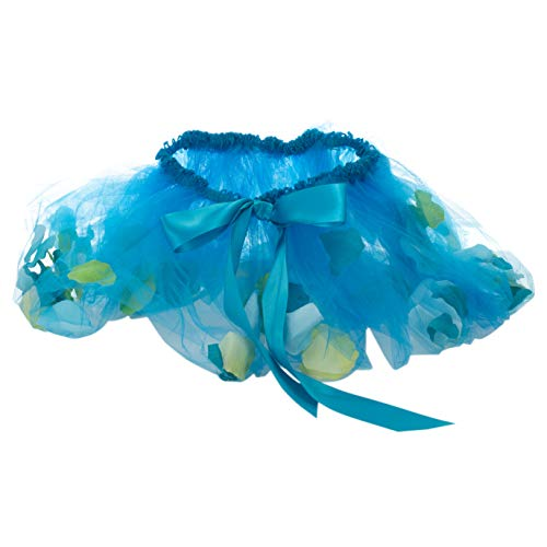 Fairy Flower Teal Blue Small (Toddler) Tulle Fabric Children's Costume Skirt]()