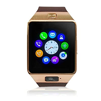 Aipker Dz09 Bluetooth Smart Watch Wristwatch with Camera Sync to Android IOS Smart Phone Samsung S5 / Note 2 / 3 / 4,nexus 6,htc,sony,huawei and Other Android Smartphones
