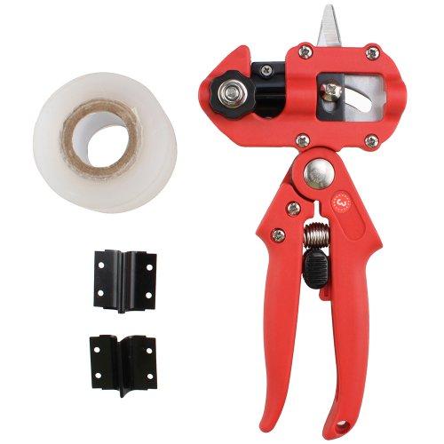 AGPtek Professional Nursery Grafting Tool Pruner 2 Extra Blades Free Grafting Tape (Red) by AGPTEK