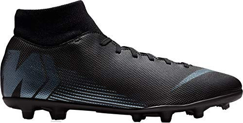 NIKE 6 Fútbol Unisex FG Adulto Negro de Zapatillas Superfly MG Black 001 Black Club r5qr0