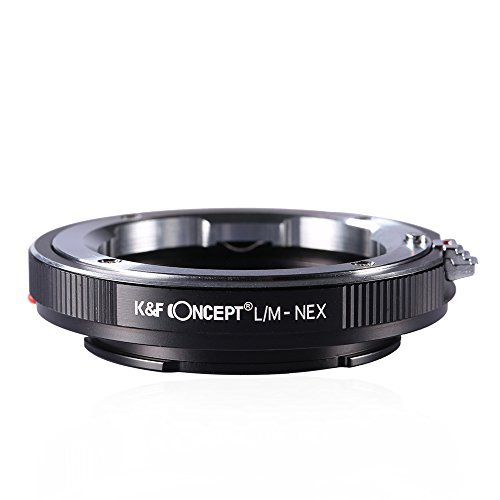 K&F Concept LM to NEX Adapter Compatible with Leica M Lens to Sony Alpha Nex E-mount Camera Lens Mount Adapter
