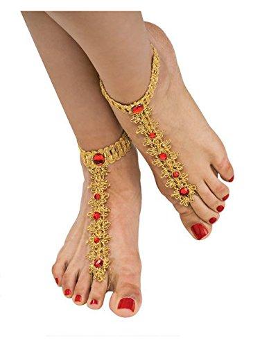 (RUBIE'S 9546 Rubie's Costume Co Foot Jewelry Decorations,)