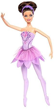 Barbie - Muñeca Bailarina con Zapatos y Traje, Color púrpura ...
