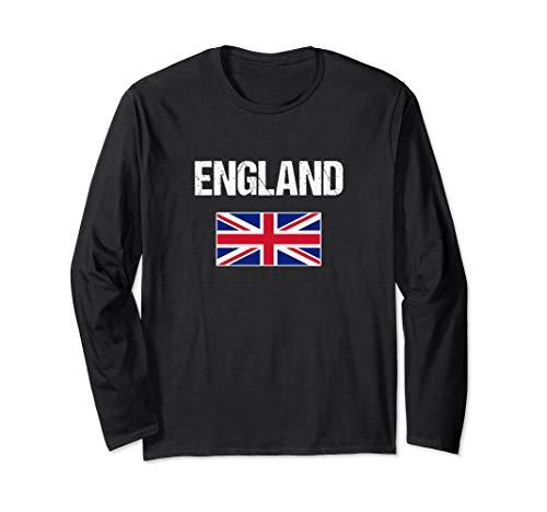 English Long Sleeve T-shirt British Flag Union Jack Tee Gift ()