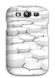 For Galaxy S3 Case Protective Case For 3d Hexagons Case