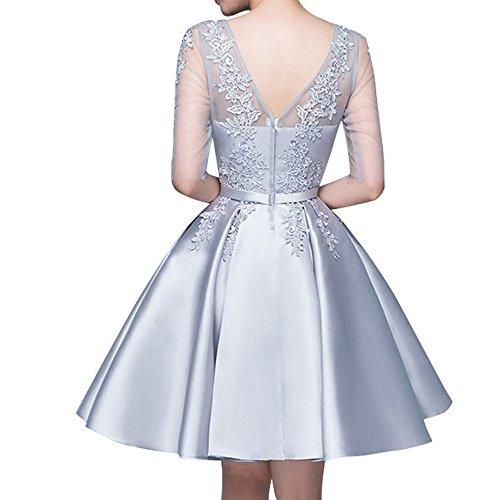 Tanzenkleider La Flieder Marie Cocktailkleider Rock Abendkleider Spitze Braut Einfach Partykleider Mini r0xq1fr