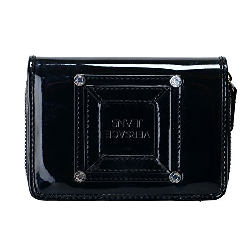 Versace-Jeans-Womens-Black-Zip-Around-Small-Wallet
