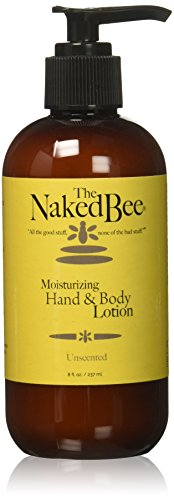The Naked Bee Moisturizing Hand & Body Lotion, 8 Ounce, Unscented