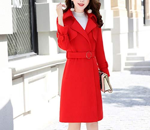Modèles Long Automne Manteau Femme Femme En Coton vent Rouge Hiver Chinois Chaud Et Laine Veste Coupe Ab Hiver Simple vBSxqpv