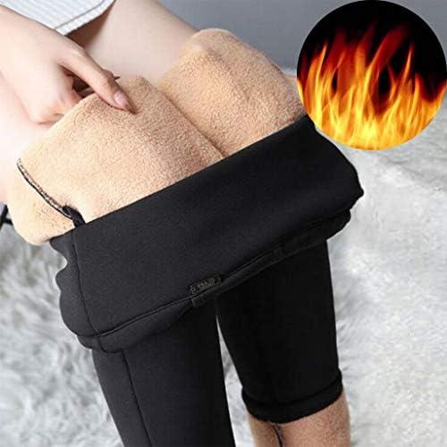 ELECTRI Femme Leggings Thermiques Épais Doublés d'hiver