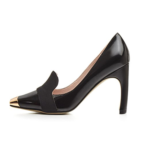 AIWEIYi Platform Square Heels High Women Black on Pumps Slip toe Shoes Dress Cq8OSACw