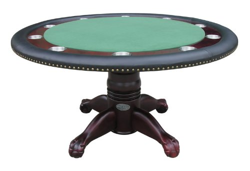 60'' Round Poker Table in Mahogany By Berner Billiards by Berner Billiards