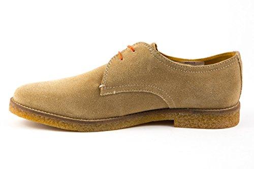 Base London - Zapatos de cordones de Piel para hombre 42 Beige