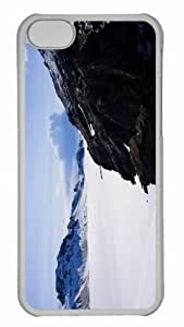 Customized iphone 5C PC Transparent Case - Winter Scenes Personalized Cover