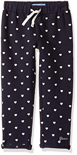 Guess Girls' Little Scattered Heart Pant, Duke Blue, 5 - Scattered Hearts