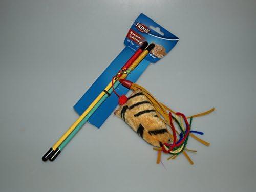 8 uds. Varitas juego con plumero 25 cm TRIXIE Juguete para gatos ...