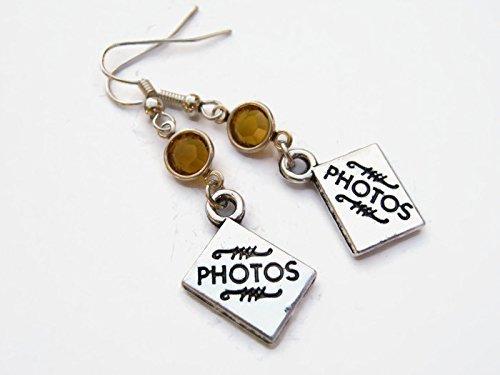 ne Earrings, Photographer Earrings, Personalized Scrapbooking Earrings, Photography Gift (Personalized Scrapbooking)