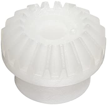 Plastic PowerDrive MG05M20 Molded Polyoxymethylene Plastic Miter Gears, 0,5 Module, 20 Tooth, 3mm Bore
