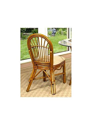 Antigua Rattan Side Chair w Cushion in Royal Oak (Antigua Rattan Chair)